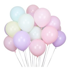 100pcs Pastel Candy Balloons Macarons Color 10 Inch Latex Round Helium For Kids Birthday Party Wedding Decor