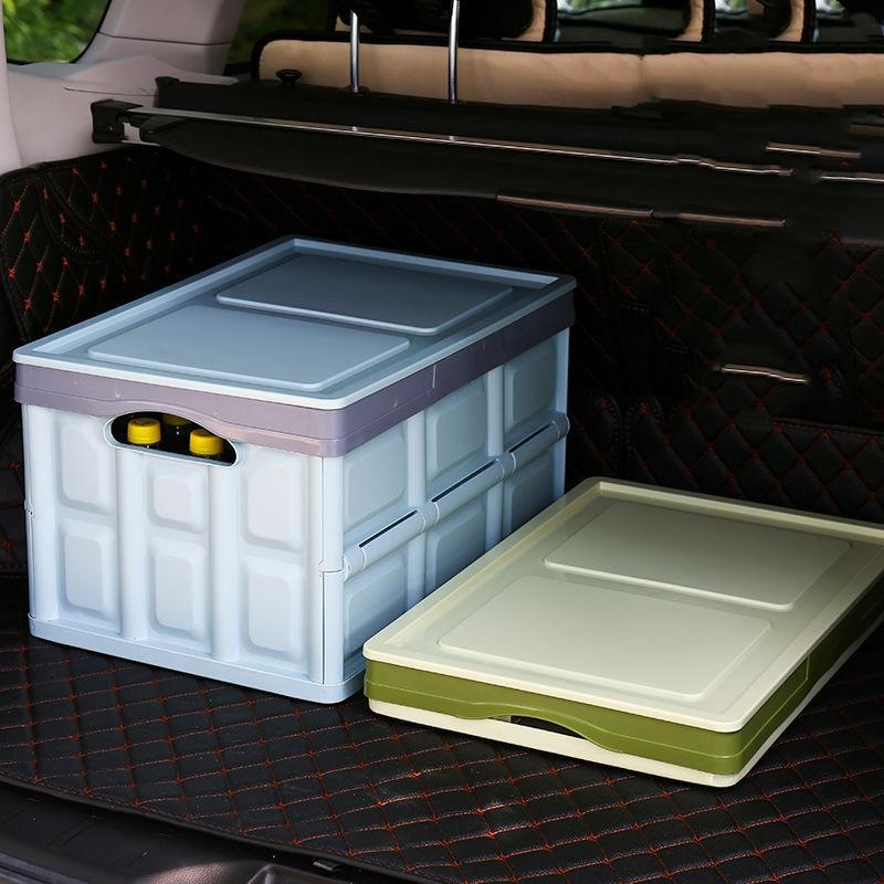 Caja de almacenamiento exterior para maletero de coche, caja de clasificación multifunción montada en vehículo, caja de almacenamiento para vehículos, caja de suministros trasera plegable Foco portátil de 50W, luz de trabajo LED de 3 modos recargable, 18650 36 LED, lámpara exterior para caza, Camping, linterna D25