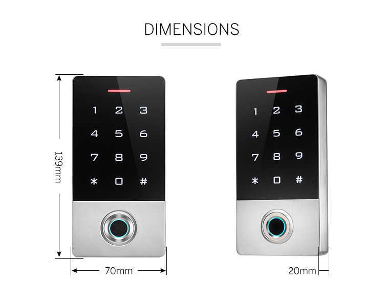 TF1 Semiconductor Sidik Jari Touch Keypad IP68 Tahan Air RFID STAND ALONE Akses Controller Jari + RFID + Password