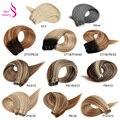 Real beleza ombre reta cabelo humano tece pacote 18