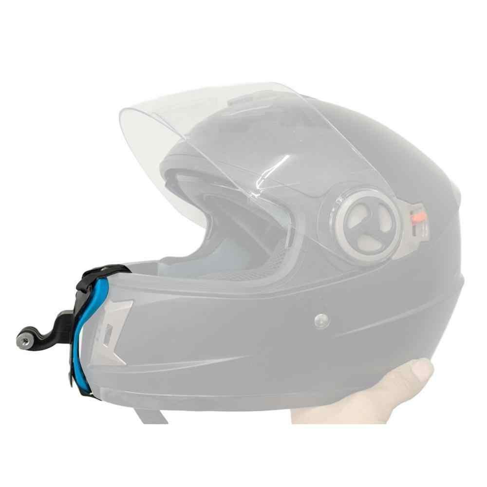 Kask motocyklowy uchwyt przedniego podbródka uchwyt statywu uchwyt na GoPro Hero 8 7 5 czarny aparat sportowy