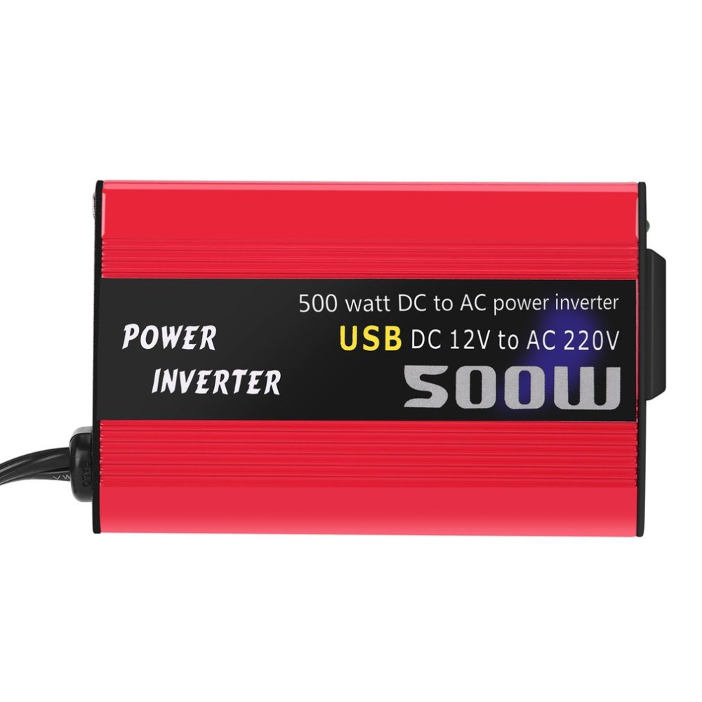 New 500W to Power Converter Convertidor Inverter DC 12V AC 110/220V Car Inverter Automatic Transformer With Dual USB Car Adapter