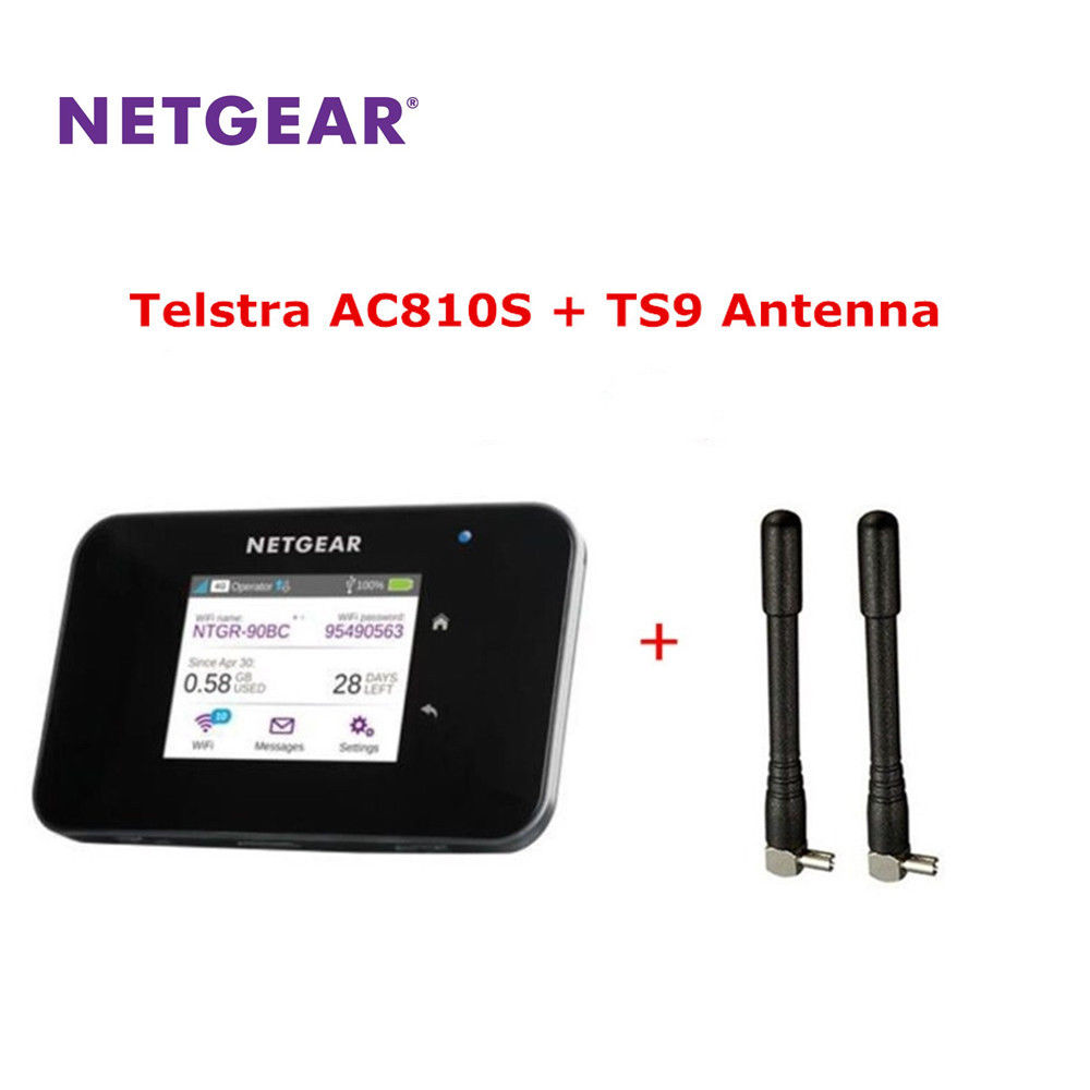 Unlocked Netgear Aircard AC810S WiFi Router 4G LTE Cat11 600Mbps 2 PCS Antenna
