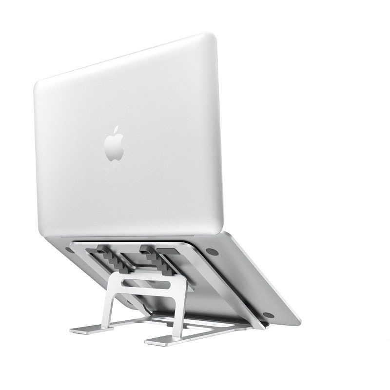 Aluminum 5 Gear Adjustable Foldable Laptop Stand Desktop Notebook Rack Holder Desktop For 7-15 Inch Macbook Pro Air Chromebook