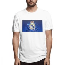 2019 funny tee cute Real Madrid Round t shirts men cotton tops cool t shirt summer Men's Short Sleeve T-shirt цена