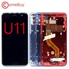 "Comebuy תצוגה עבור 5.5 ""HTC U11 LCD תצוגת U 3w U 3u מגע מסך עבור HTC U11 תצוגה עם החלפת מסגרת"