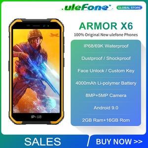 Image 2 - Osłona Ulefone X6 IP68 wodoodporny smartfon MT6580 czterordzeniowy Android 9 odblokowanie twarzą 2GB 16GB, 4000mAh 3G wersja globalna telefon
