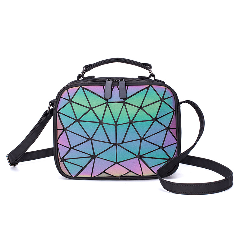 Luminous Geometric Ladies Small Square Shoulder Bag 6