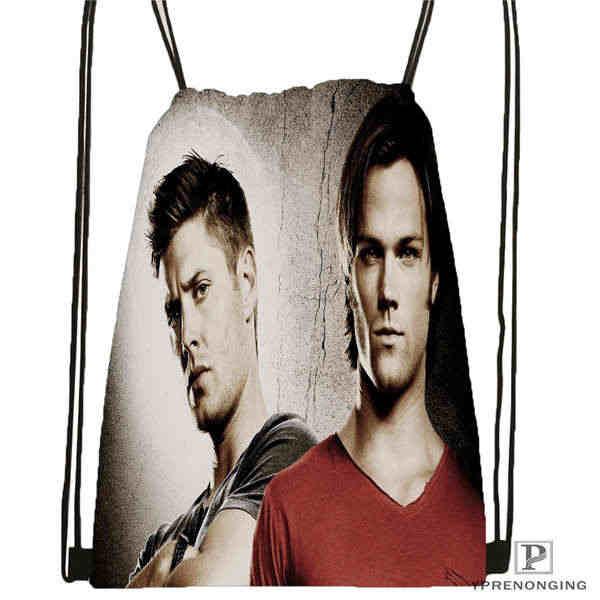 Mochila supernatural personalizada @ 02-mochila con cordón lindo mochila para niños (espalda negra) x 31x40cm #180611-01-30