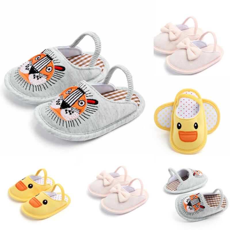 Pudcoco Newest Newborn Baby Boy Girl Soft Sole Cotton Slipper Crib Shoes Anti-slip Shose