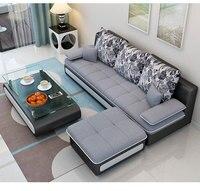 Hot Sale Living Room Sofa Set Home Furniture Modern Design Cotton Fabric Frame Soft Sponge Three Seater Sofa Home Furniture