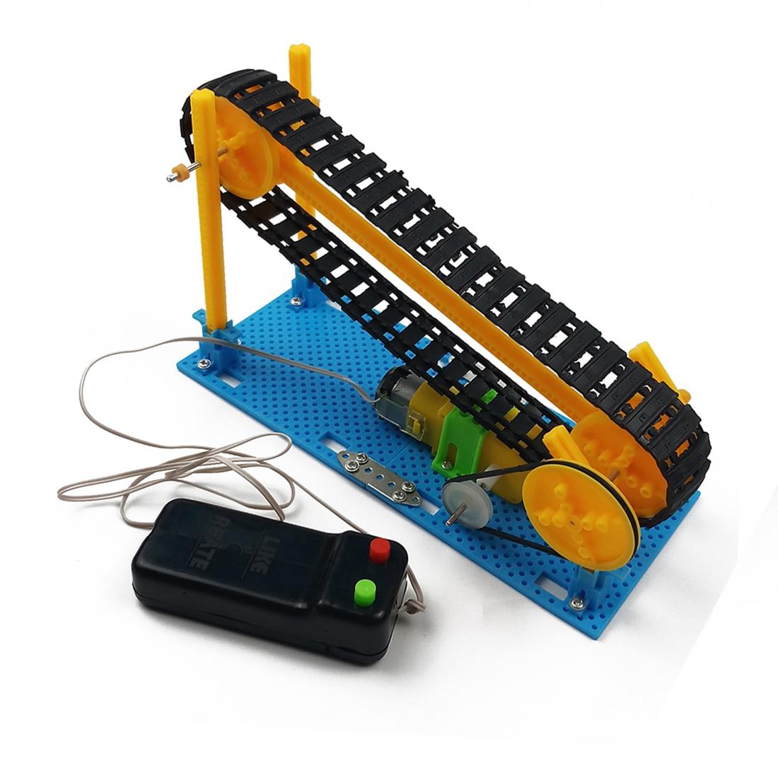 DIY Электрический конвейер модель Паровая игрушка наука физика технология игрушки конвейерная лента развивающие игрушки