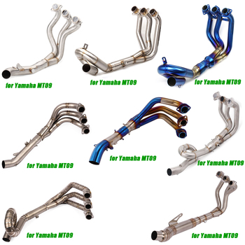 Para Yamaha MT09 MT-09 hasta 2020 frontal media tubería de acero inoxidable de aleación de titanio enlace tubos de instalación no destructiva del sistema