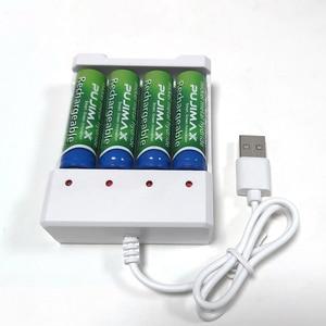 Image 4 - PUJIMAX אוניברסלי USB פלט 4 חריץ סוללה מטען מתאם עבור AA / AAA סוללה נטענת מטען מהיר סוללה טעינה כלים