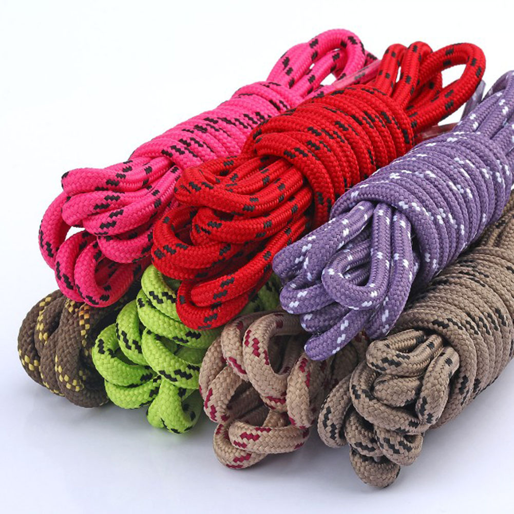 80-120cm Outdoor Round Rope Hiking Shoes Laces Striped Wear Resistant Sneakers Boot Shoelaces Strings For Men And Women Sports