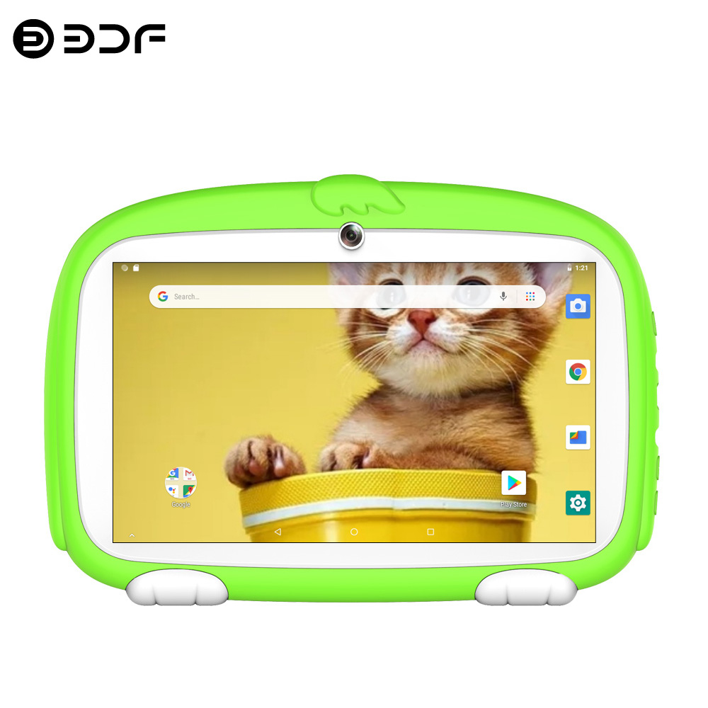 New Arrivals 7 Inch Google Kids Tablets Android 8.0 Quad Core Bluetooth WiFi Dual Camera Android Tablet Pc Children's favorites