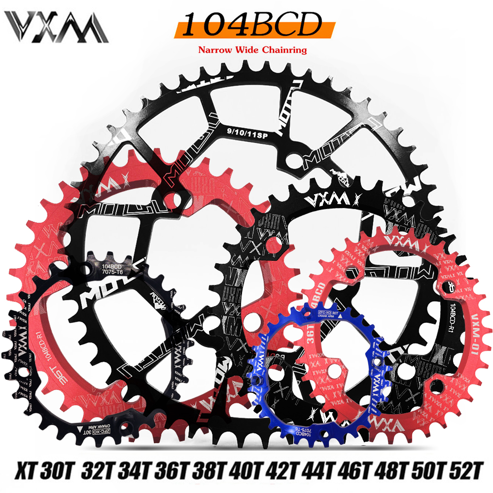 DECKAS BCD104mm 32T 34T 36T 38T Chainring Bolts MTB Bike Narrow Wide Sprocket