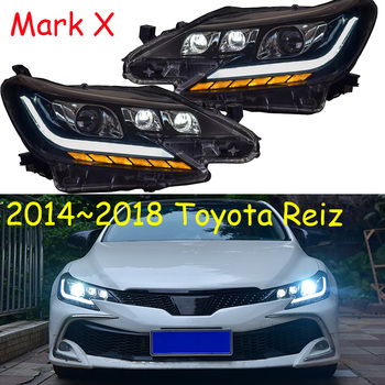 2014~2017y car bupmer head light for Toyota Reiz headlight Mark X car accessories LED DRL HID xenon fog for Mark X Reiz headlamp