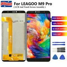 """5.72 """"עבור LEAGOO M9 PRO LCD תצוגה + 720x1440p מסך מגע חיישן עצרת Digitizer החלפת M9Pro + קלטת"""
