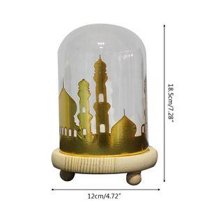 Креативный светодиодный ночник EID Mubarak, настольная лампа для Рамадана, мусульманские Вечерние украшения K4UA
