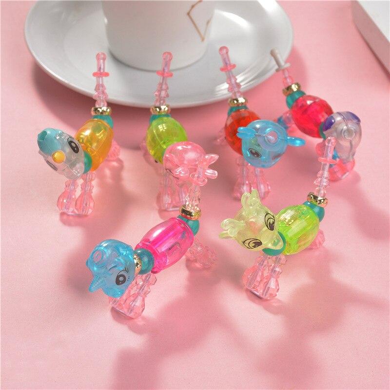 Love Elf Creative Surprise Twisted Pet Bracelets Magic Animal Flexible DIY Children Beaded Bracelet Jewelry Toy
