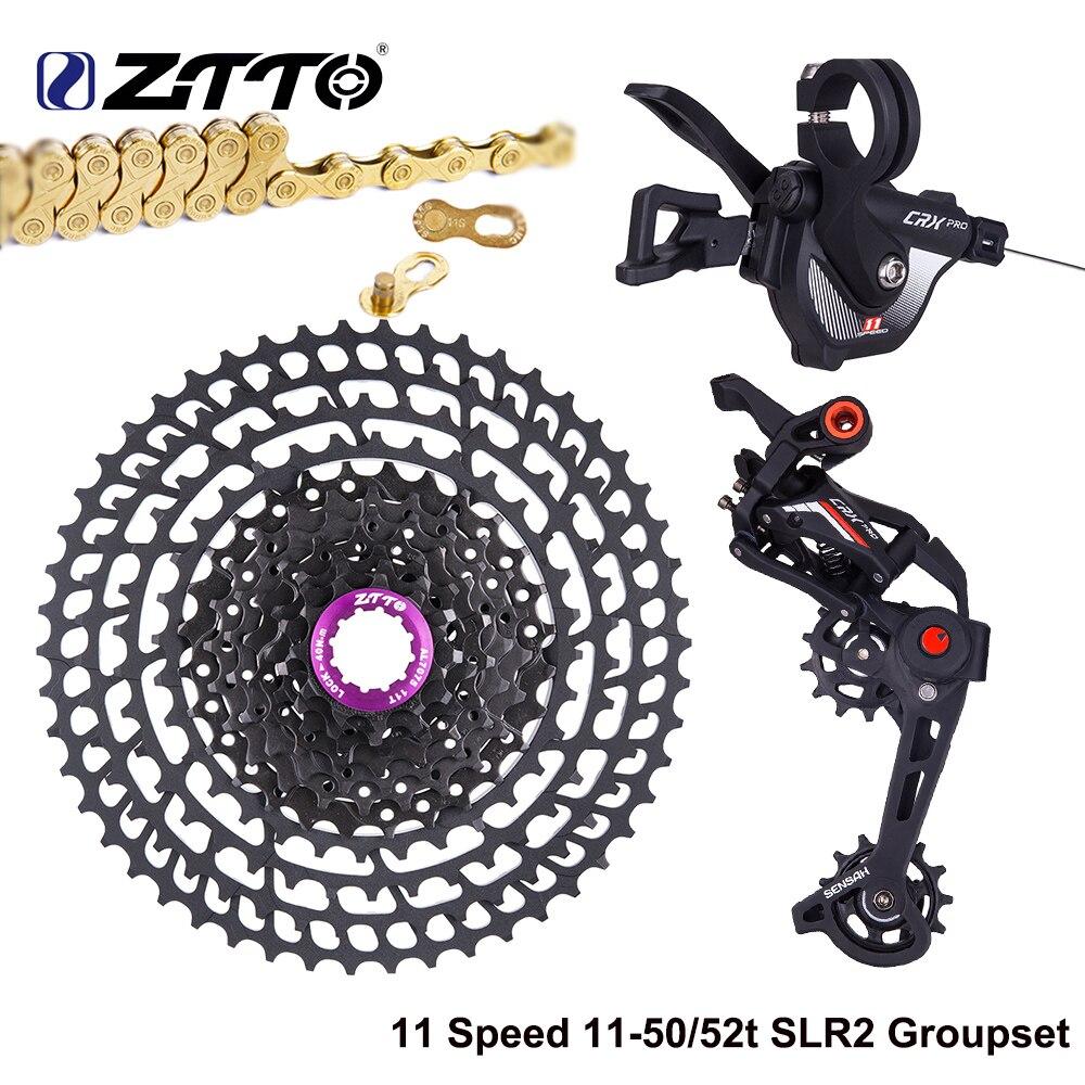 ZTTO Cassette ultraligero para bicicleta de montaña, 11 velocidades, 11 50T, 11 52T, 11v, 50T, 52T, k7, 11 s, desviador, cadena de oro