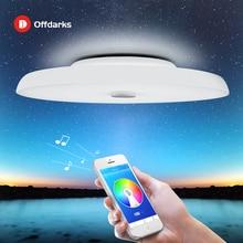 Современные светодиодные потолочные лампы с регулируемой яркостью, 36 Вт 48 Вт 72 Вт, дистанционное управление через приложение, Bluetooth, музыкальный свет, динамик, фойе, спальня, умный потолочный светильник