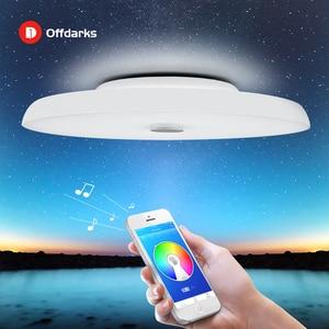 Image 1 - Plafond moderne à LEDs lumières Dimmable 36W 48W 72W APP télécommande Bluetooth musique lumière haut parleur foyer chambre intelligente plafonnier