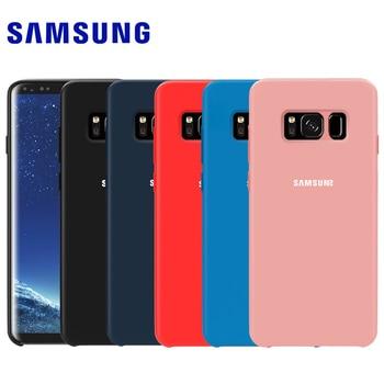 Samsung S8 Fall Ursprüngliche Weiche Silikon Protector Fall Samsung Galaxy S8 S9 S10 Plus S10 5G Hinweis 8 9 10 10 + 5G Zurück Abdeckung fall