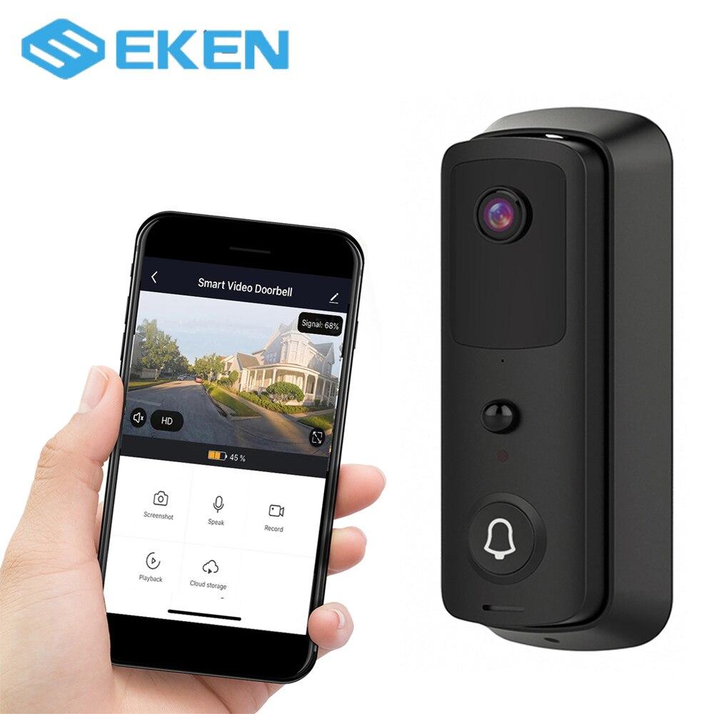 EKEN T4 Wireless Home Security Intercom Door Bell With Night Vision IR Motion Detection Alarm 1080P Full HD Doorbell