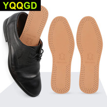 цена на Tcare 1Pair Ultra Thin Breathable Deodorant Leather Insoles Instantly Absorb Sweat Replacement Inner Soles Shoes Insole Pads
