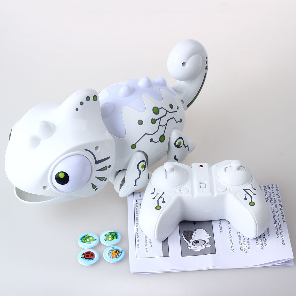 Electronic Pets Intelligent Toys Robot Smart Chameleon Robotic Animals Can Eat Things Function Cute Toys For Kids