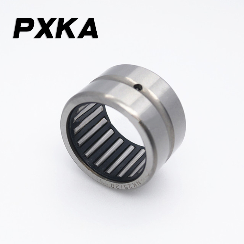Free Shipping 2pcs Without Inner Ring Needle Roller Bearing Ring Bearing NK16/20 Size 16*24*20, NK17/16 Size 17*25*16