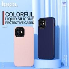 Hoco miękki silikonowy pokrowiec ochronny do iPhone 12 mini Pro 11 11Pro Max pokrowiec ochronny silikonowy ochraniacz telefonu kolorowy