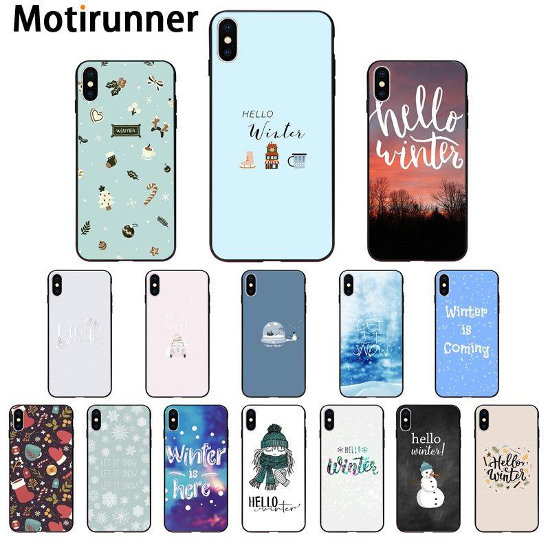 Мягкий силиконовый чехол для телефона Motirunner Hello winter snow из ТПУ для iPhone 11 pro XS MAX 8 7 6 6S Plus X 5 5S SE XR|Чехлы-накладки|   | АлиЭкспресс