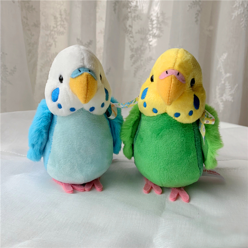 14 Cm Budgie Plush Toys Soft Real Life Budgerigar Stuffed Animals Toy Realistic Birds Stuffed Toys Gifts For Kids Children