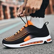 Moda homem almofada de ar tênis respirável sapatos esportivos 2021 marca luxo casual moda casal tênis de corrida unisex tamanho
