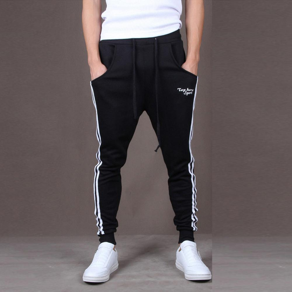 2019 New Fashion Tracksuit Bottoms Mens Casual Pants Cotton Sweatpants Mens Joggers Striped Track Pants Gyms Clothing