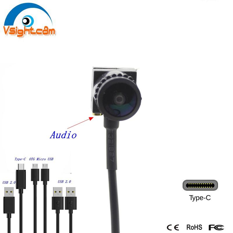 Usb-Camera Wide-Angle Micro Android 1080P with Audio OTG for Mobiles Mini-Usb