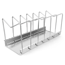 Plated Dish Racks 5/7 Slots Steel Plate Organizer Countertop Drying Stand Bowl Plate Dish Cup Cutler Drainer Storage Pan Cover