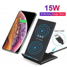 VIKEFON 10W 15W Qi Quick Charging Wireless Fast Charger USB Type C QC 3.0 Mobile Phone Station For iPhone 11 X Samsung s9 Xiaomi
