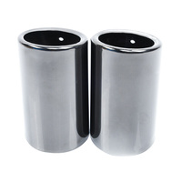 1 Pair Replacement for E90 E92 325 3 Series 2006 2010 Stainless Steel Exhaust Muffler Tail Pipes Tip Car Part