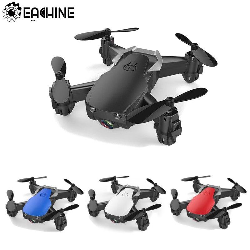 Eachine E61/E61hw Mini Drone con/sin cámara HD modo de alta retención RC Quadcopter RTF WiFi FPV helicóptero plegable VS HS210 JJRC H8 Mini Drone sin cabeza modo Dron 2,4G 4CH RC helicóptero 6 Axis Gyro 3D eversión RTF 360 grados con luces nocturnas LED