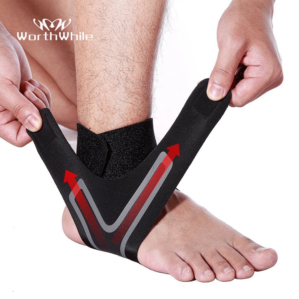 WorthWhile 1 PC Fitness Sports Ankle Brace Gym Elastic  Support Gear Foot Weights Wraps Protector Legs Power Weightlifting