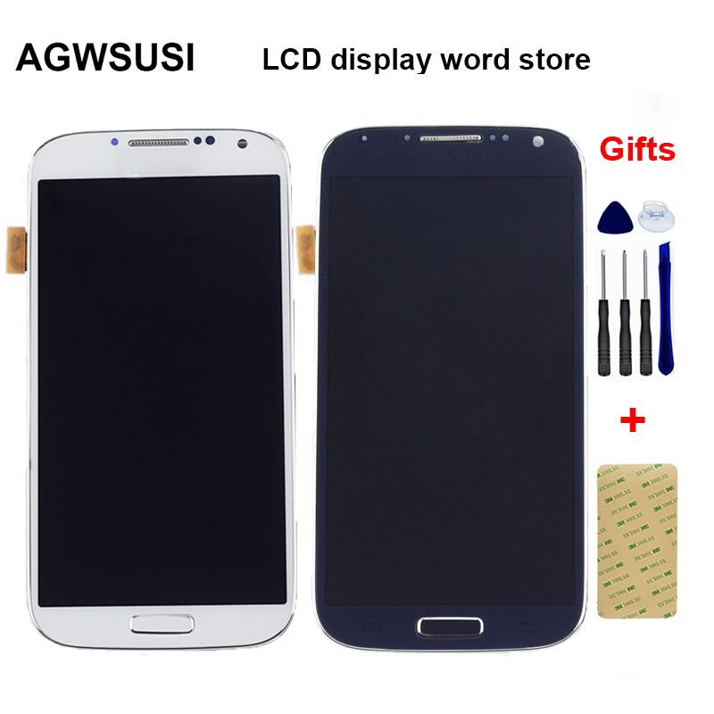 For Samsung Galaxy S4 GT- I9500 I9505 I337 LCD Display Monitor Panel + Touch Screen Digitizer Glass Assembly + Frame