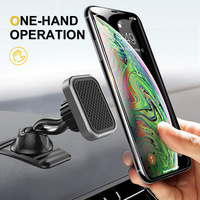 Universal Magnetic Auto Telefon Halter Doppel Starke Magnet 360 ° Rotation Dashboard Handy Halter Für IPhone12 Xiaomi Huawei
