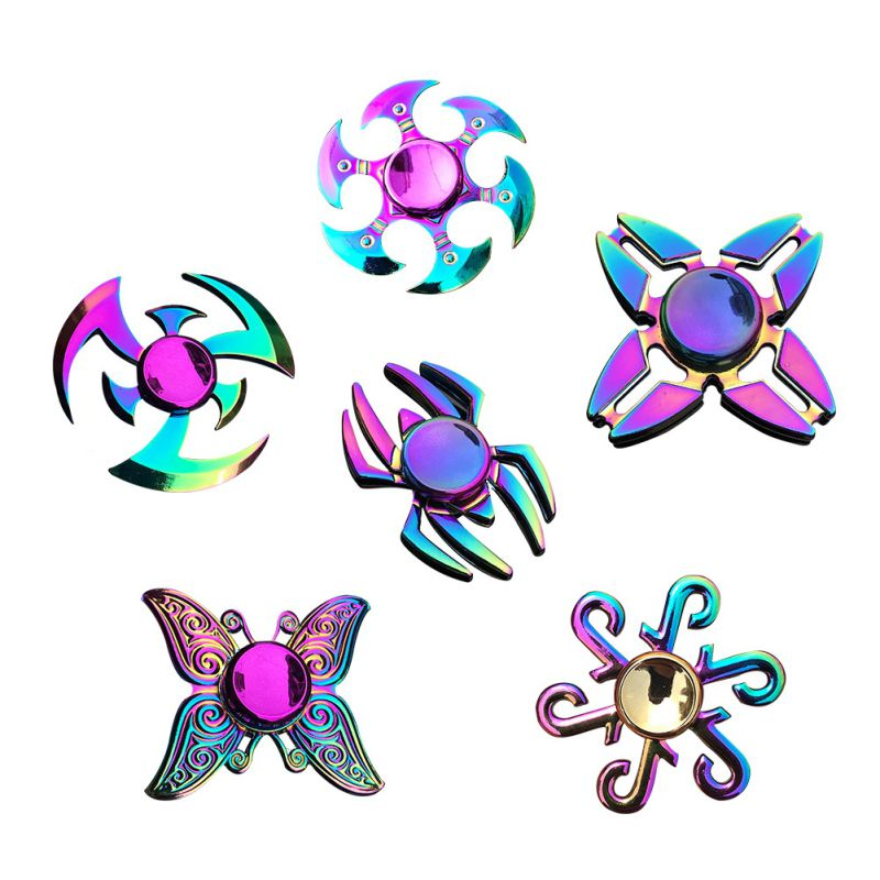 NEW Zinc Alloy Material Funny Fashion Hand Spinner Stress Relief Colorful Spin For Adult Kid Office People Anxiety Removal Toys