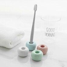 Мини винтажный керамической держатель для зубной щетки фарфоровая зубная щетка подставка органайзер для хранения ванной комнаты кольцо 4 цвета