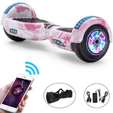 Hoverboard 6.5 Inch Colorful Pink For Kid Electric Scooter Bluetooth Self-Balancing Scooter LED 2 Wheels Balance Skateboard+Bag