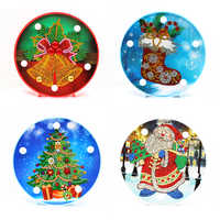 Special Shaped Diamond Painting LED Lamp Light Christmas 5D Diamond Embroidery Mosaic Owl DIY Unfinished Kit WHH